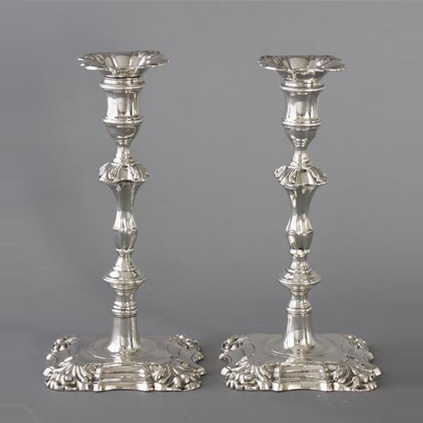 Brought Silver Candlesticks